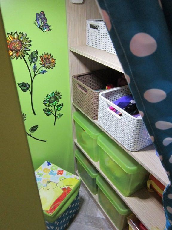 Место для игрушек в детской