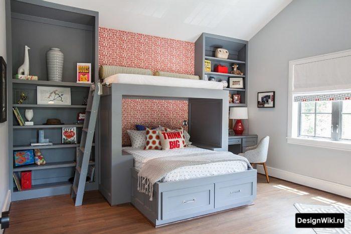 Серая мебель в детской