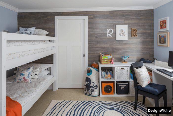 Стильная современная комната для двух мальчиков