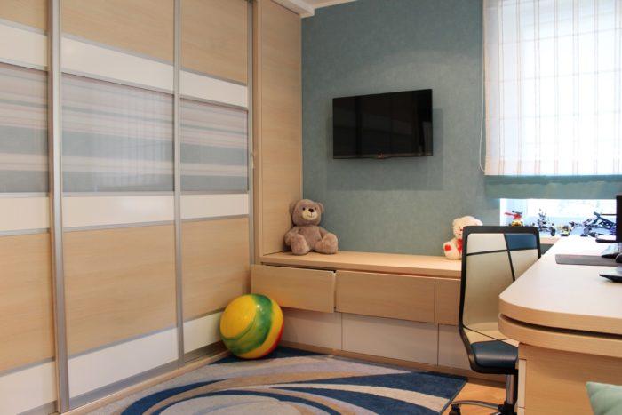 Шкаф купе для детской для двух детей
