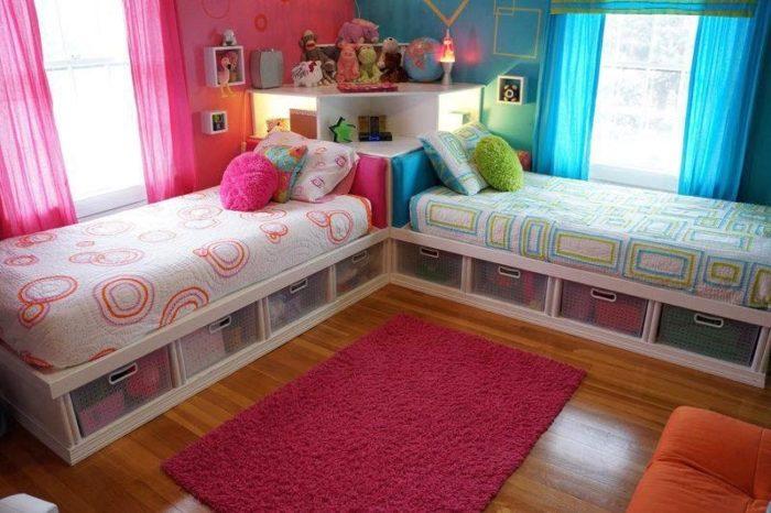 Кровати с полками для вещей детские