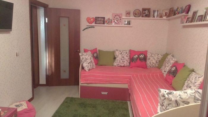 Сочетание цветов в спальне для девочек