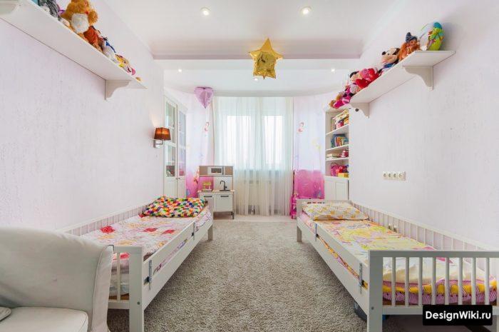 Спальня для двух девочек в стиле минимализм