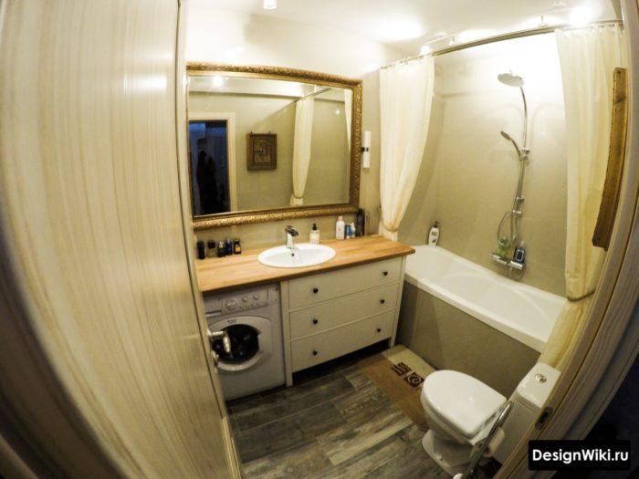Ванная комната 4 кв метра дизайн стиральная под раковиной