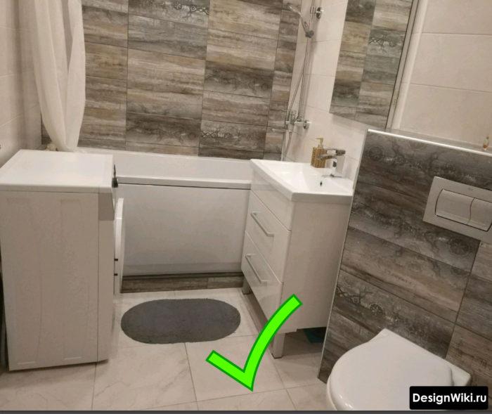 Ванная эконом класса совмещенная с туалетом