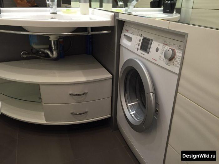 Встраивание стиральной машины в ванной комнате