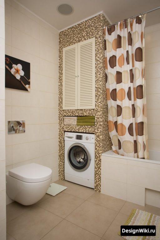 Дизайн ванной комнаты 6 кв м со стиральной машиной