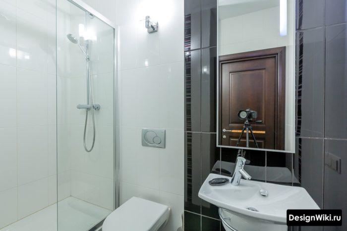 Дизайн ванной 4 кв.м с душем