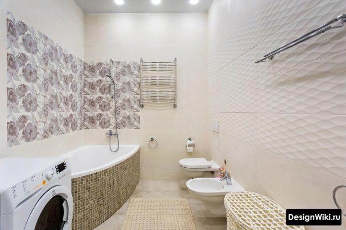 Дизайн ванной 5 кв.м со стиральной машиной