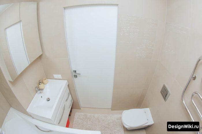 Дизайн маленькой ванной комнаты минимализм