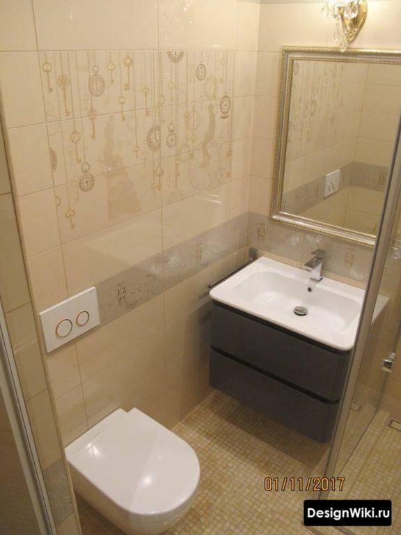 Дизайн маленькой ванной современная классика