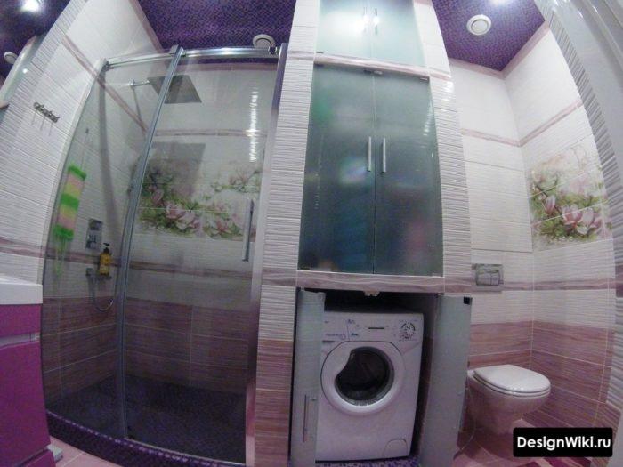 Дизайн совмещенного санузла со стиральной машиной