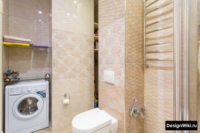 Интерьер совмещенной ванной 5 кв.м
