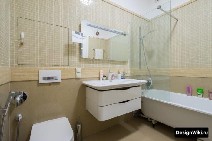 Комбинация плитки в маленькой комнате