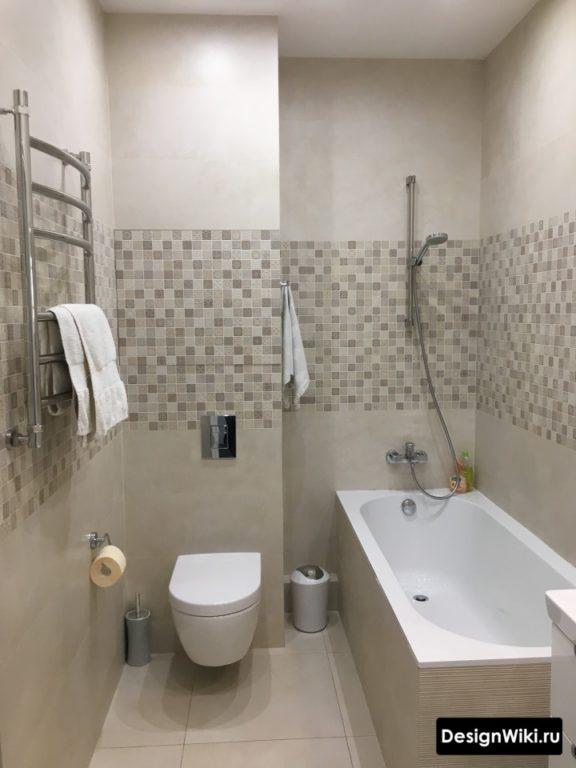 Модный дизайн совмещенной ванной 4 кв.м