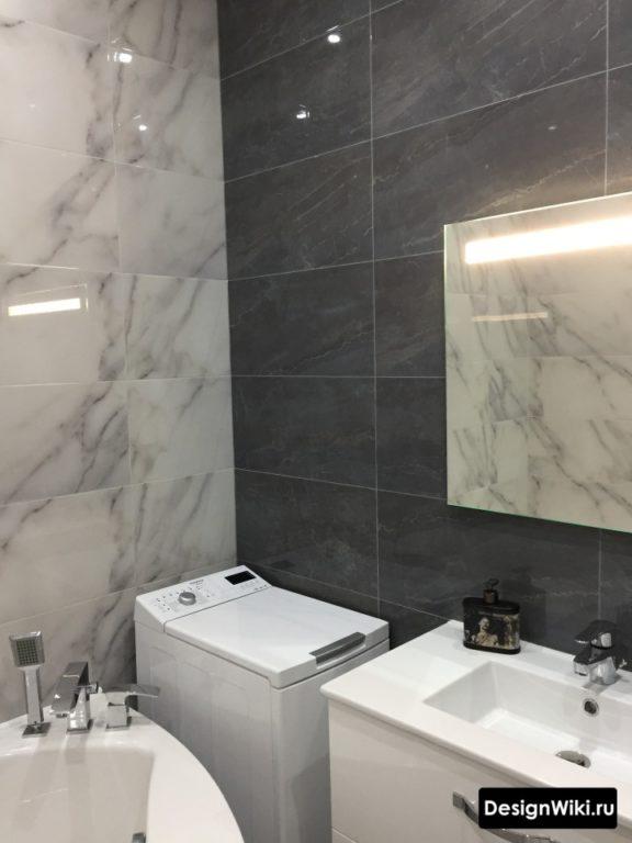 Отделка маленькой совмещенной ванной 4 кв.м