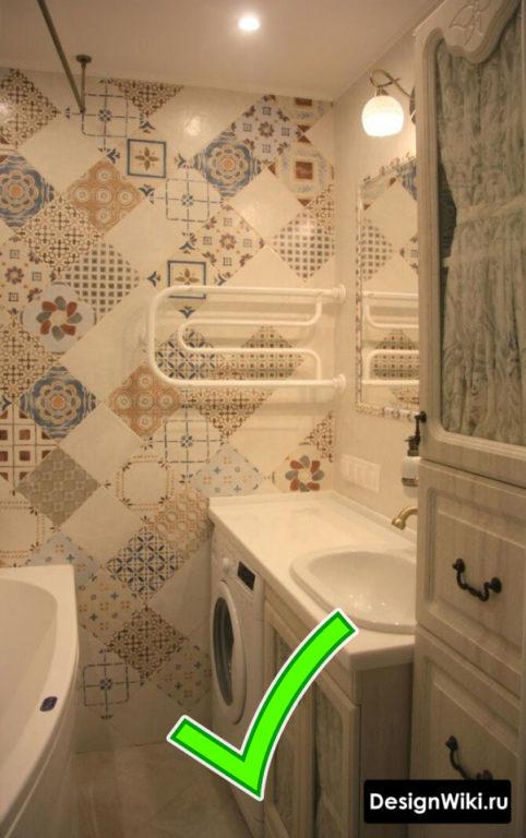 Очень маленькая красивая #ванная комната #дизайн