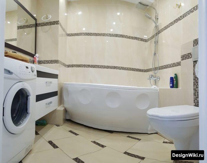 Планировка ванной с туалетом и стиральной машиной