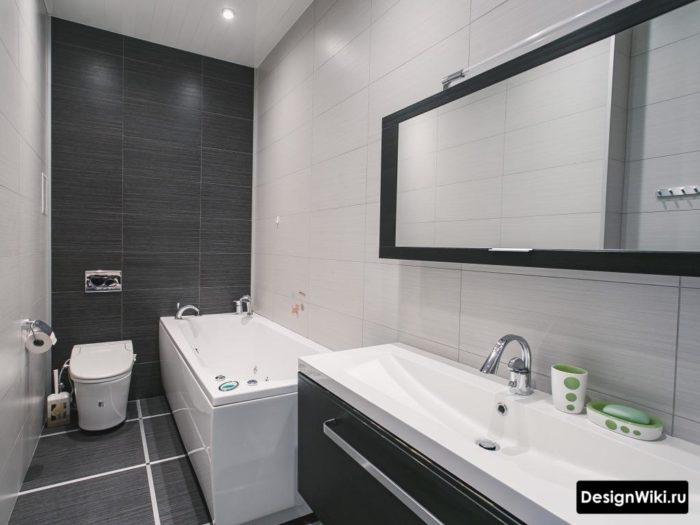 Раскладка плитки в маленькой ванной