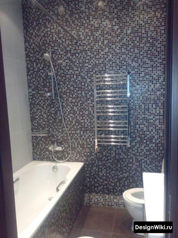 Ремонт в ванной комнате 4 кв.м со стиральной машиной и туалетом