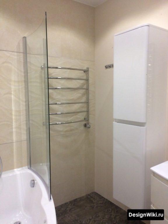 Система хранения для маленькой ванной комнаты