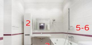 Интерьер маленькой совмещенной ванной
