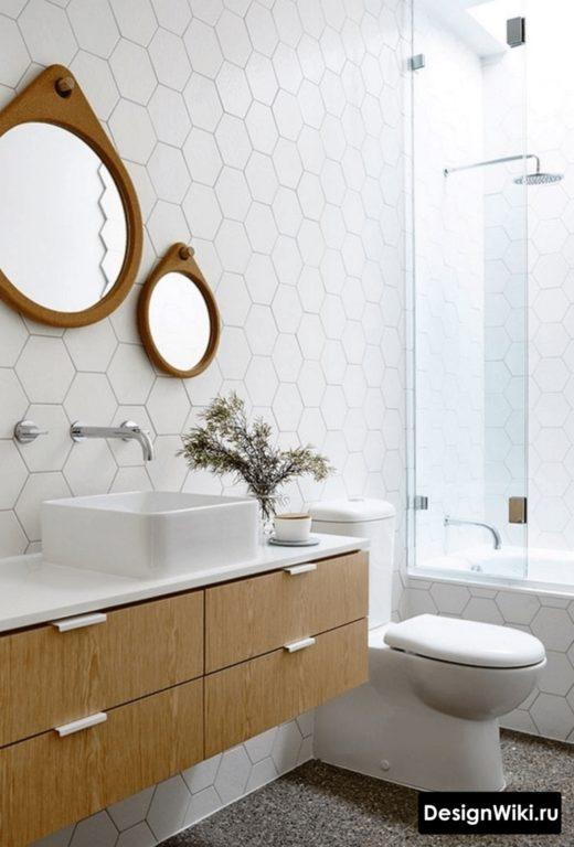 Аутентичный скандинавский стиль ванной комнаты