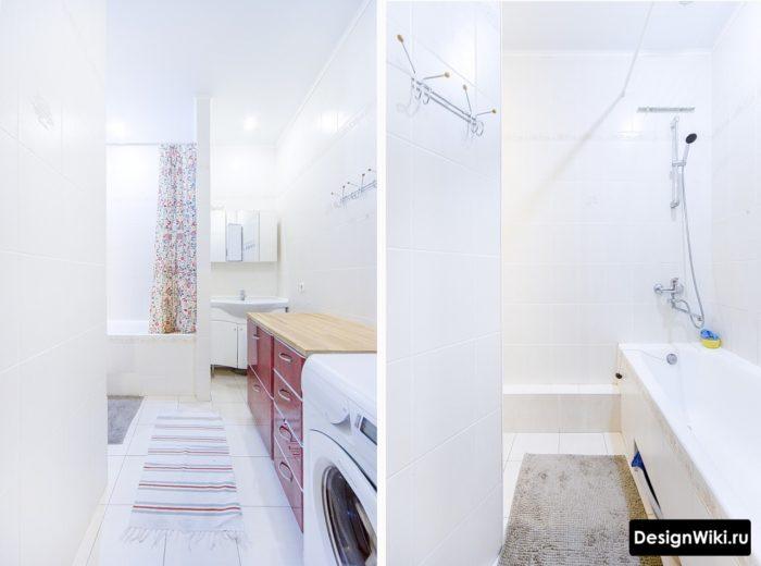 Белые ванные в скандинавском стиле