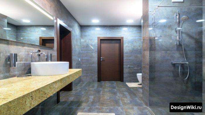 Большая ванная комната в стиле лофт