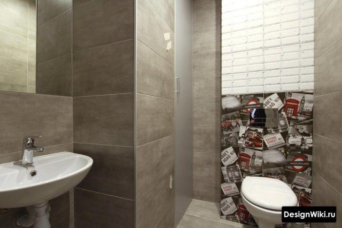 Ванная в индустриальном стиле