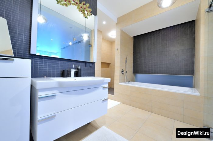Встроенная прямоугольная ванна