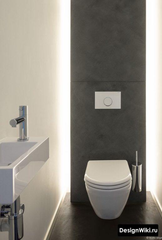 Декоративная подсветка в туалете