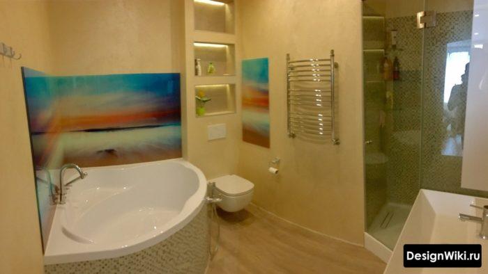 Декоративные панели в ванной комнате