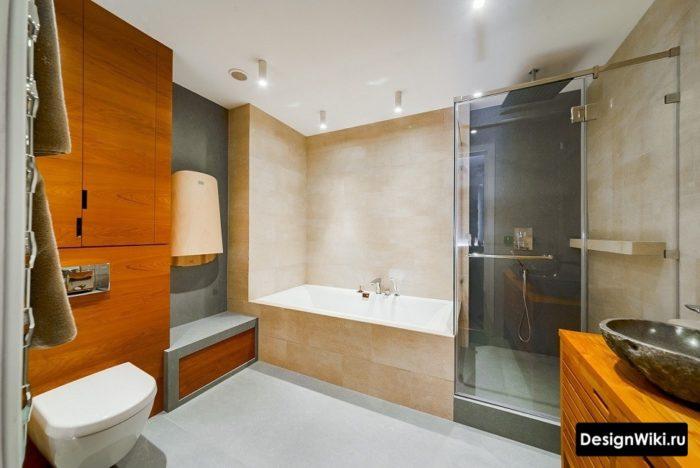 Дизайн ванной комнаты в стиле конструктивизм