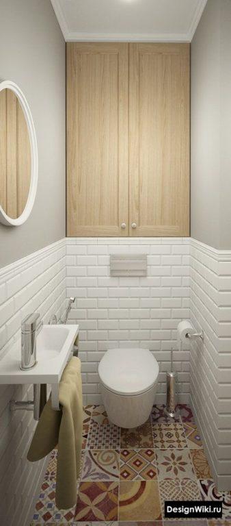 Дизайн маленького туалета в скандинавском стиле