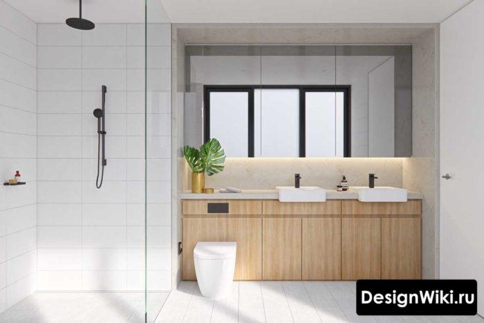 Дизайн проект ванной в скандинавском стиле