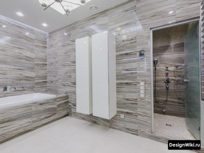 Дизайн современной ванной - системы хранения