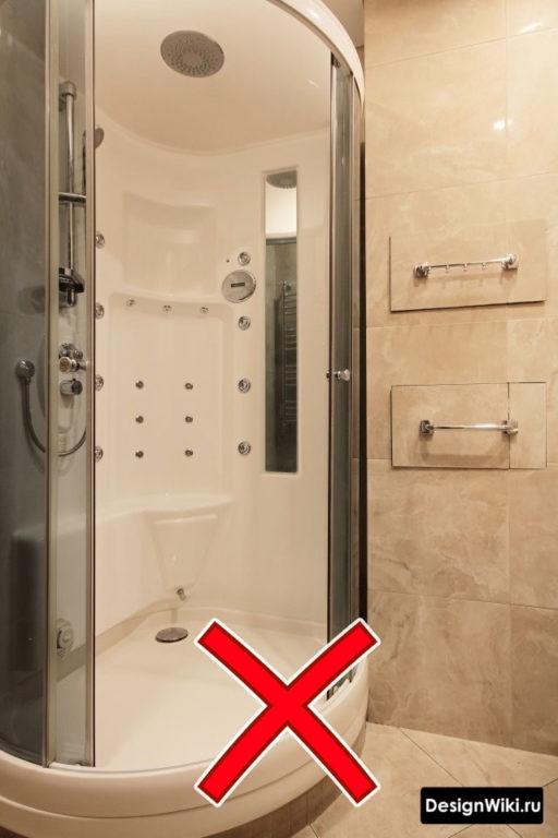 Закрытая китайская душевая кабина #интерьерквартиры #ваннаякомната