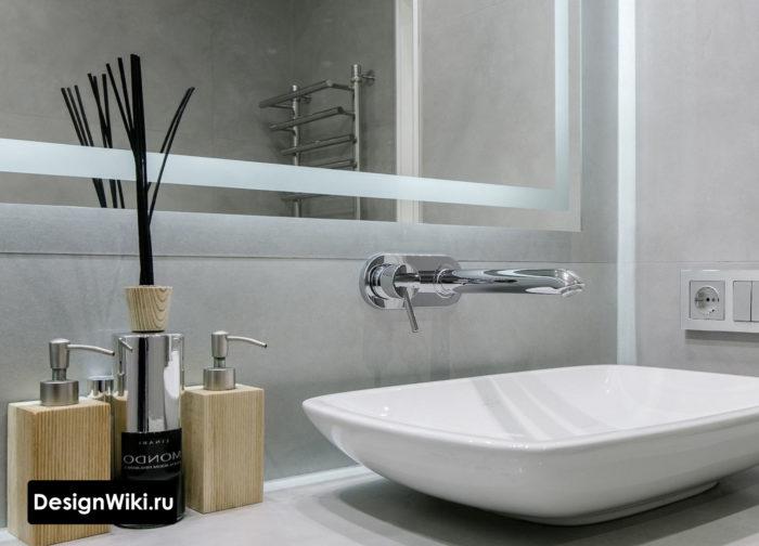 Идея -Встроенный смеситель для современной ванной комнаты