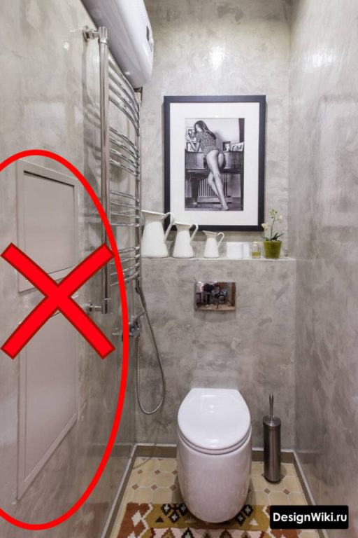 Как не надо делать люки в туалете #дизайнинтерьера #ванная