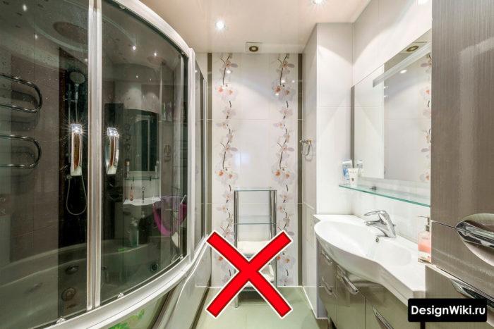 Колхозный дизайн ванной с душем