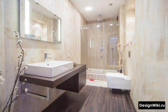 Красивая ванная в скандинавском стиле