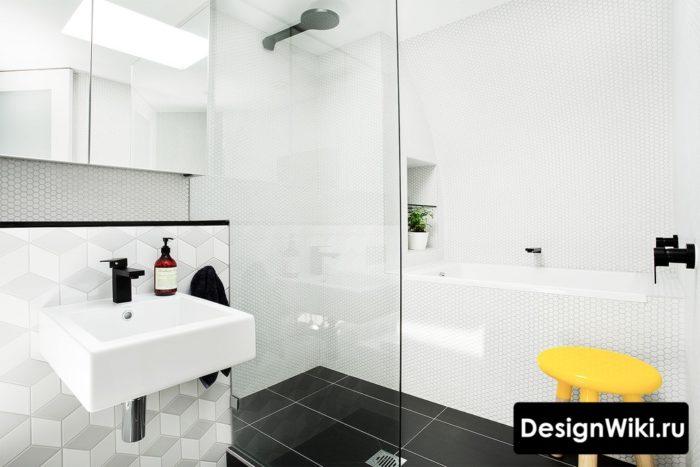 Красивая стильная ванная в скандинавском стиле