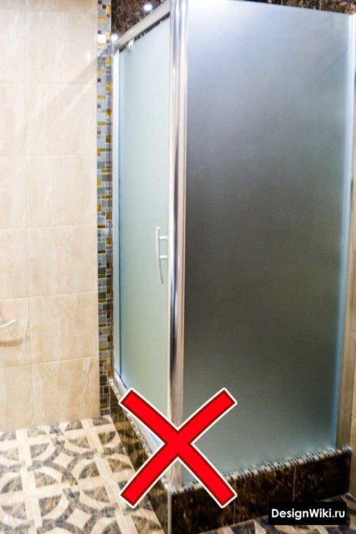 Матовое непрозрачное стекло в душевой #дизайн #ванная