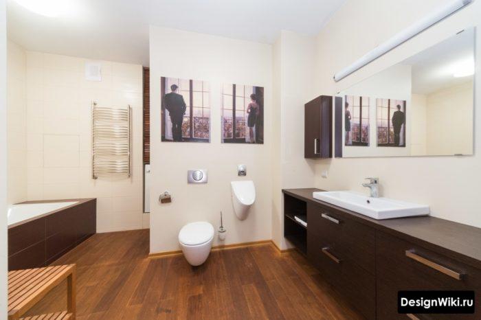 Модерн и скандинавский стиль в ванной
