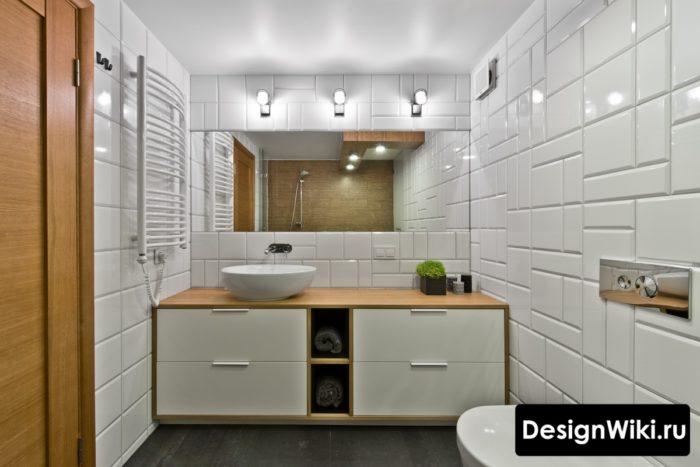 Модная ванная в скандинавском стиле