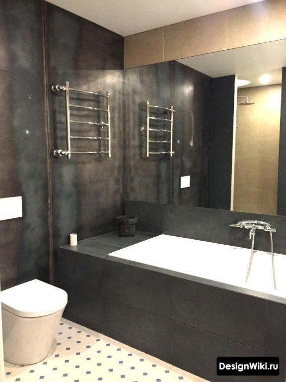 Модный дизайн ванной комнаты в стиле лофт