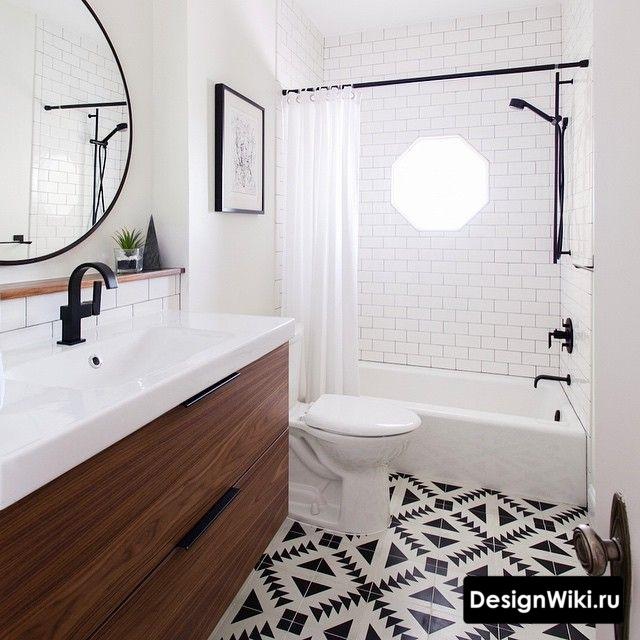 Настоящая ванная в скандинавском стиле