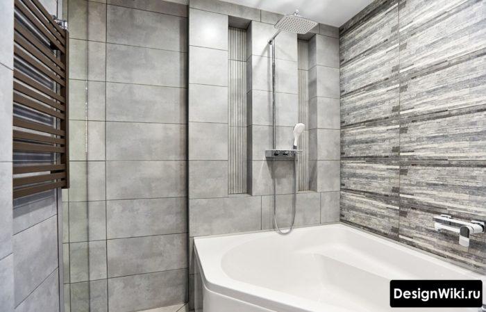 Оттенки серого в интерьере ванной