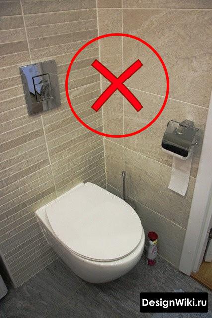 Ошибка при укладке плитки в туалете #интерьерквартиры #дизайнинтерьера